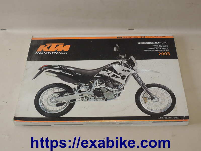 Owner Manual For Moto KTM 640 LC4